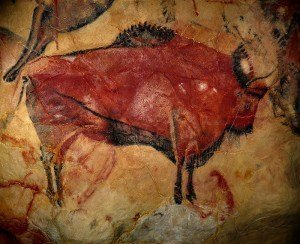 Bison cave painting