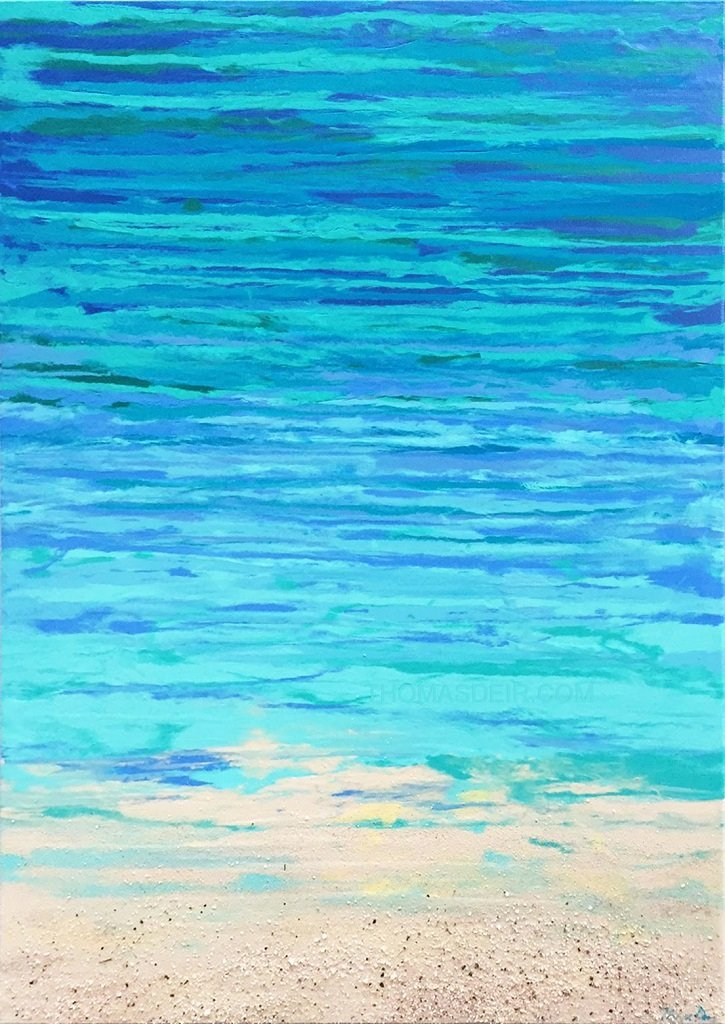 Hawaii abstract painting ocean